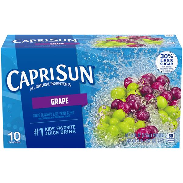 Capri Sun Grape Juice Drink 10 - 6 fl oz Pouches
