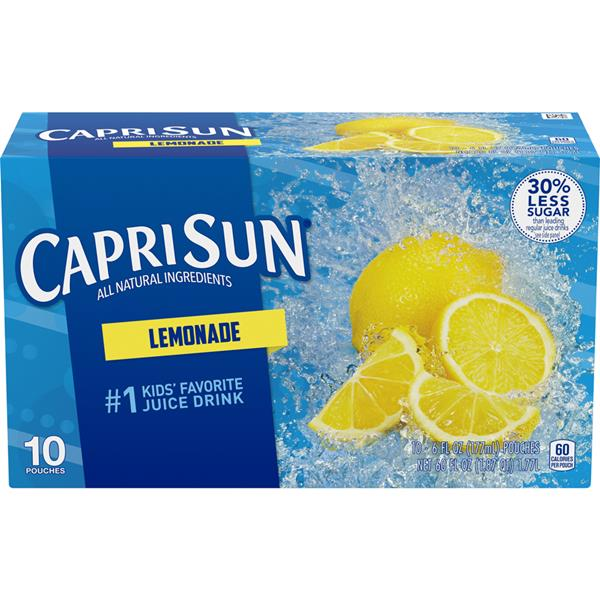 Capri Sun Lemonade Juice Drink 10-6 fl oz Pouches