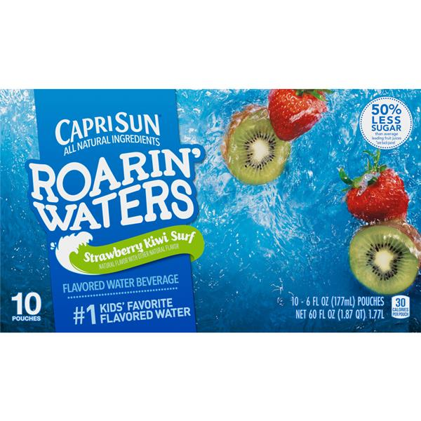 Capri Sun Roarin' Waters Strawberry Kiwi 10-6 fl oz Pouches