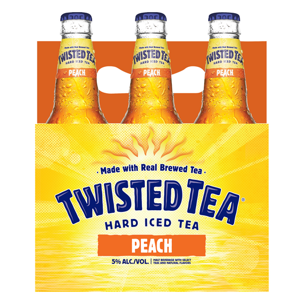 Twisted Tea Peach, Hard Iced Tea 6pk