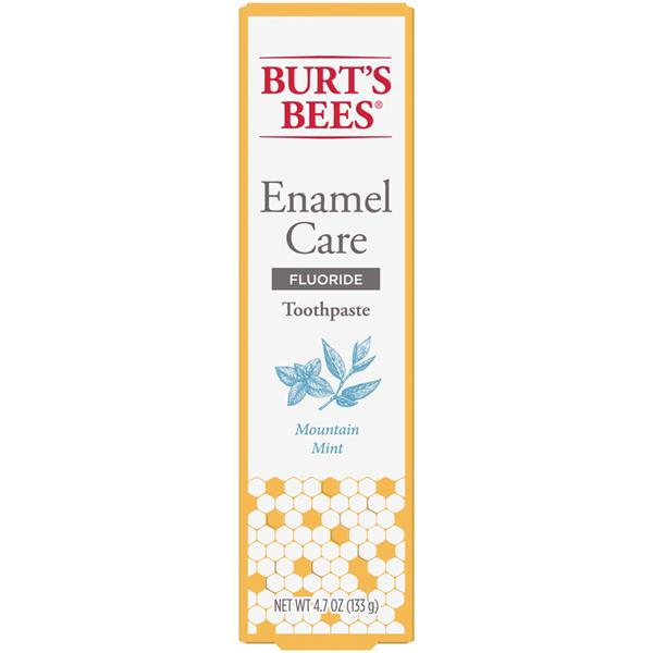 Burt's Bees Toothpaste with Fluoride, Enamel Care, Mountain Mint