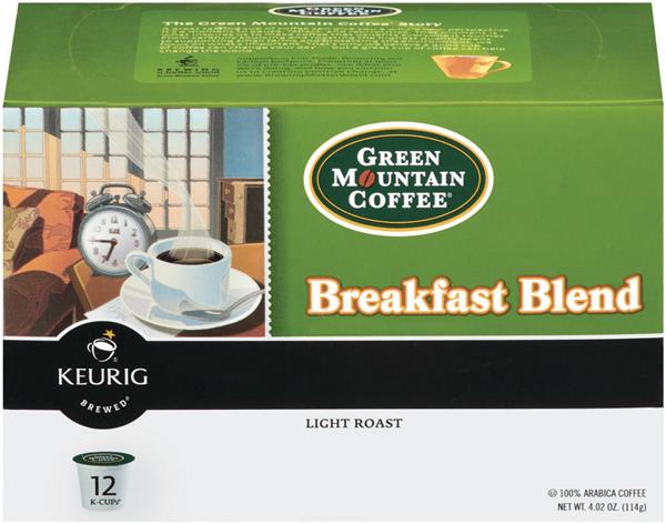 Green Mountain Coffee Breakfast Blend K-Cups 12-0.31 oz ea