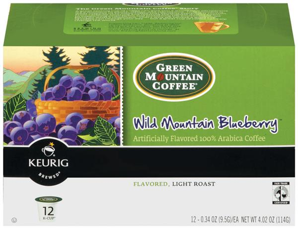 Green Mountain Coffee Wild Mountain Blueberry Coffee K-Cups 12-0.34 oz ea