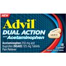 Advil Dual Action with Acetaminophen, Caplets