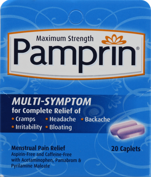 Pamprin Maximum Strength Multi-Symptom Caplets