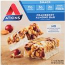Atkins Day Break Snack Bar, Cranberry Almond 5-1.23 oz Bars