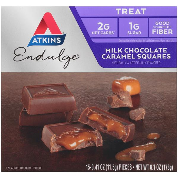 Atkins Endulge Treat Milk Chocolate Caramel Squares 15-0.41 oz Pieces