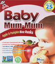 Baby Mum-Mum Apple Rice Rusks 24Ct