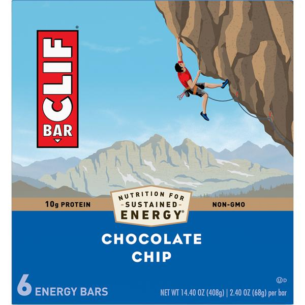 CLIF BAR Chocolate Chip Energy Bars 6-2.4 oz Bars
