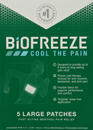 Biofreeze XL Patch