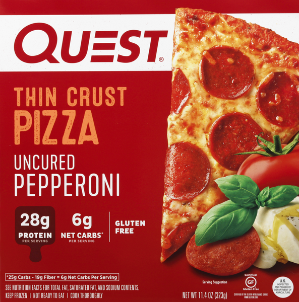 Quest Uncured Pepperoni Thin Crust Pizza