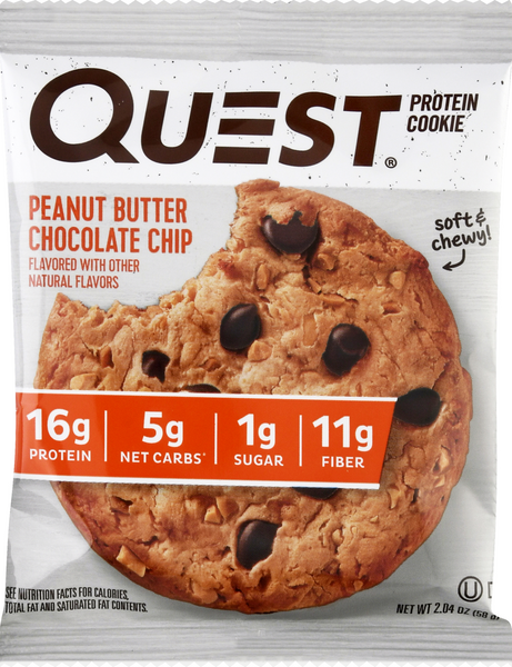 Quest Peanut Butter Chocolate Chip Protein Cookie